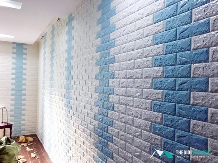 xốp dán tường 3d màu trắng