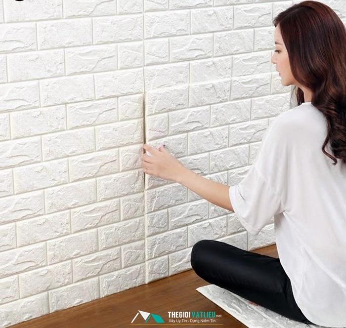 xốp dán tường giả gạch giá rẻ