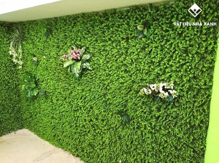 bán cỏ nhân tạo ốp tường