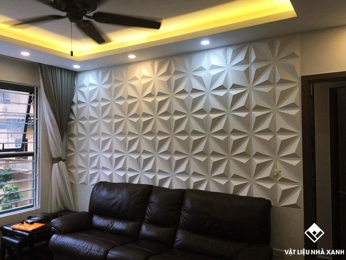 tấm ốp tường 3d phòng khách