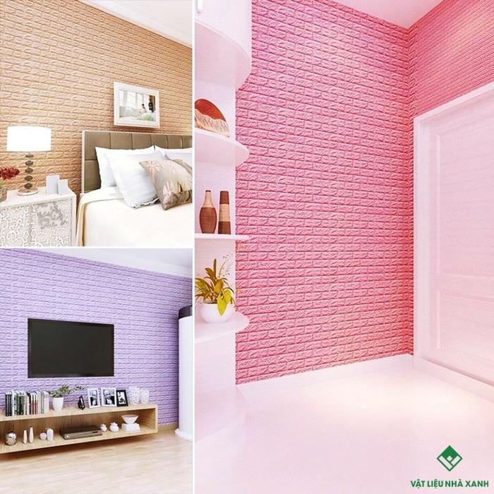 xốp dán tường chống ẩm mốc phòng khách