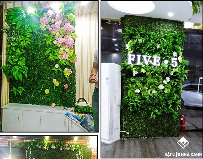 cỏ nhựa nhân tạo treo tường