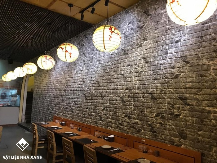 xốp dán tường quán cafe