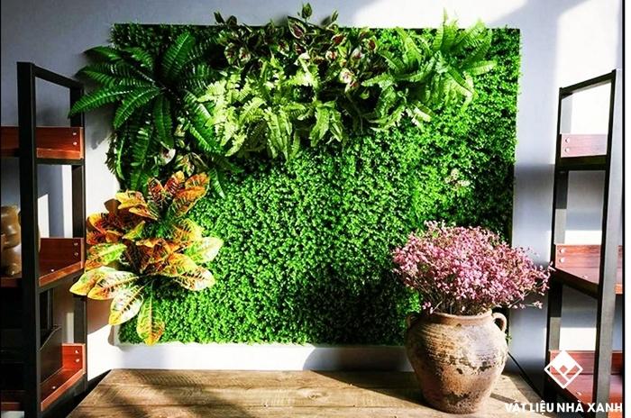 cỏ nhựa treo tường giá rẻ