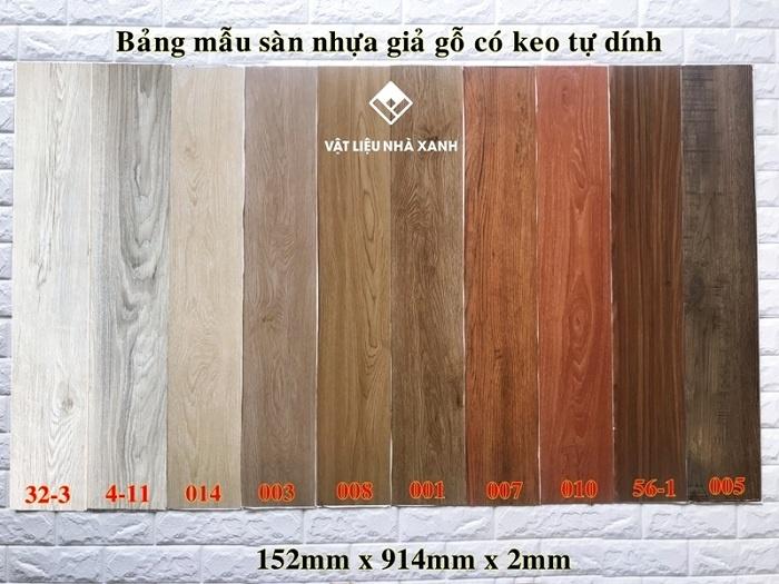 Mẫu sàn nhựa giả gỗ tại Thế Giới Vật Liệu