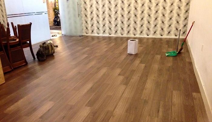 Công trình sàn nhựa giả gỗ tại Thế Giới Vật Liệu