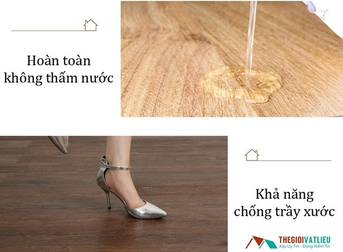 Sàn nhựa giả gỗ có độ bền ưu việt