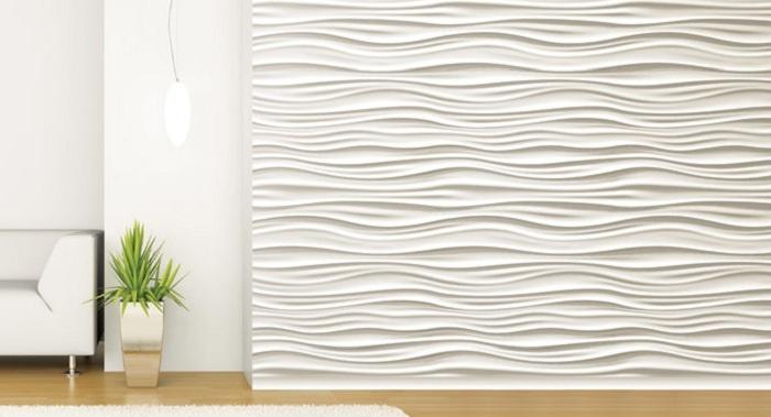 Tấm ốp tường 3D vân sóng độc đáo