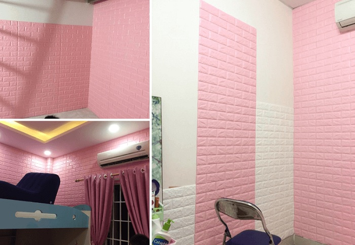Bạn nên lau chùi để xốp dán tường giữ nguyên độ tươi mới