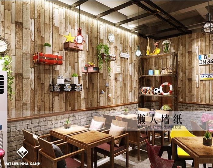 xốp dán tường vân gỗ