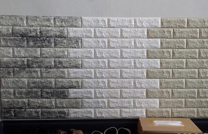 Miếng xốp dán tường giả gạch