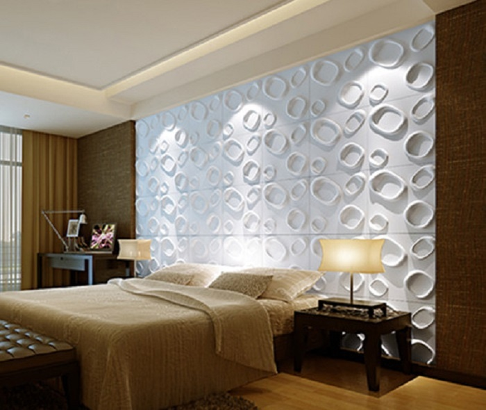 Tấm ốp tường 3D phòng ngủ có khả năng kháng khuẩn cao