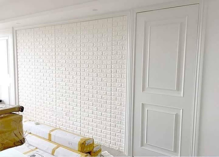 Xốp dán tường giả gỗ 3D sự lựa chọn cho mọi nhà