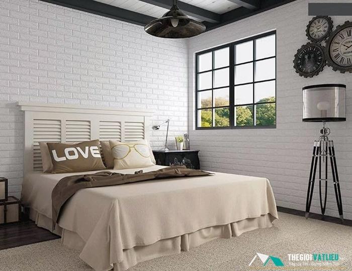 mẫu xốp dán tường phòng ngủ