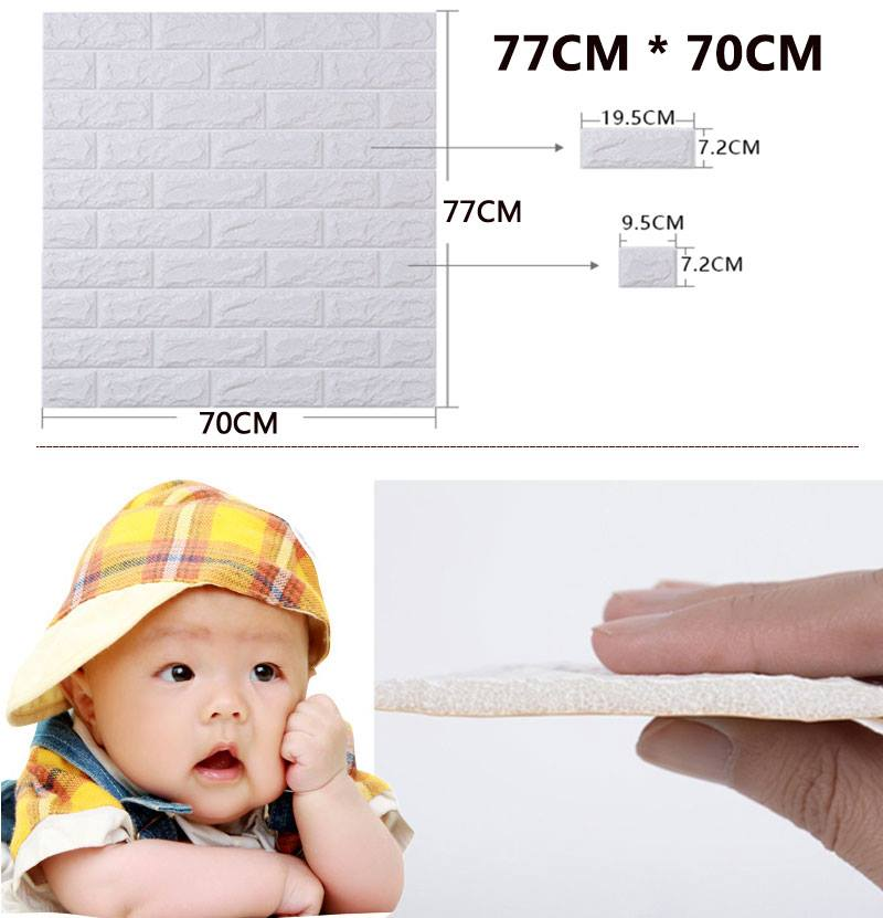 miếng xốp dán tường phòng ngủ