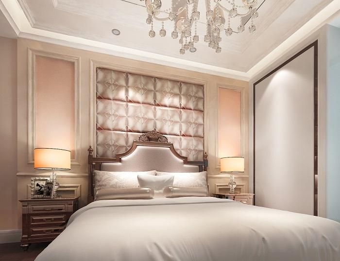 Tấm ốp tường 3D phòng ngủ đem đến một không gian rộng rãi, ấm áp