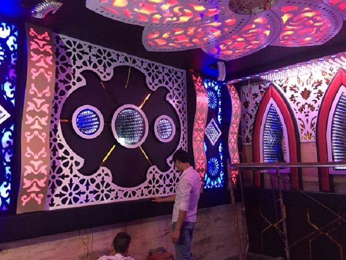 Quy trình thi công tấmốp tường 3D cho phòng karaoke