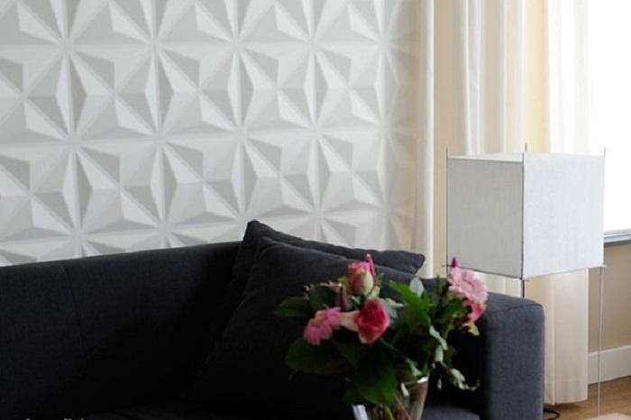 Tấm ốp tường 3D nhựa PVC đượcthiết kế đa dạng và phong phú đem đến nhiều sự lựa chọn