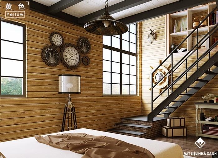 tấm xốp dán tường giả gỗ giá rẻ