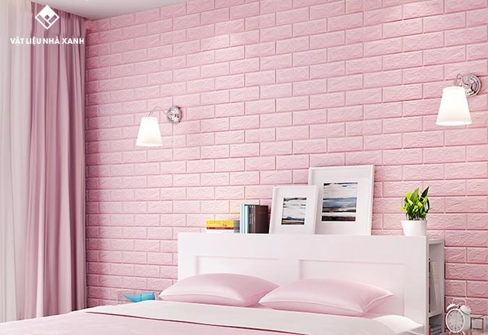 xốp dán tường 3d phòng ngủ