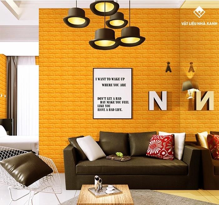 xốp dán tường phòng khách
