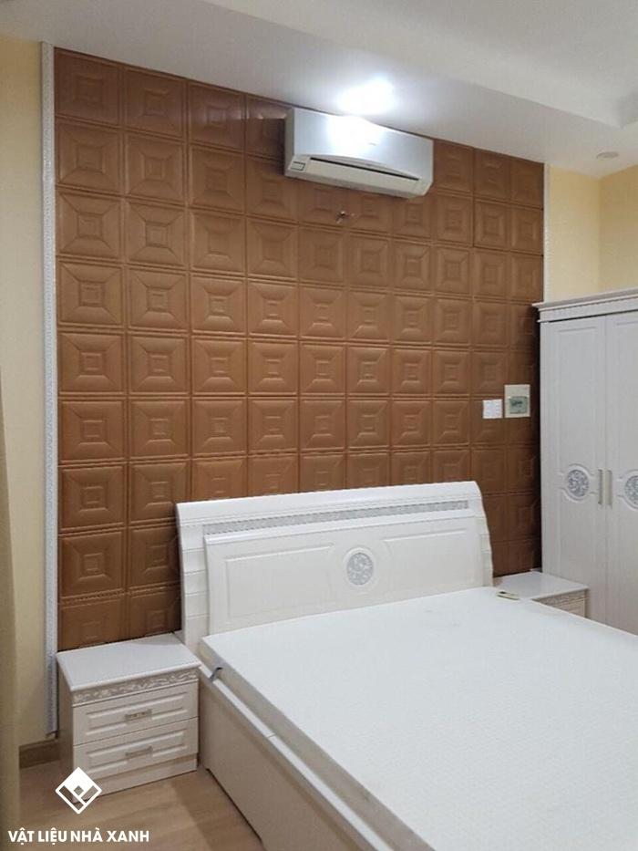 xốp dán tường phòng ngủ đẹp