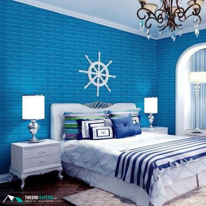 xốp dán tường phòng ngủ hcm