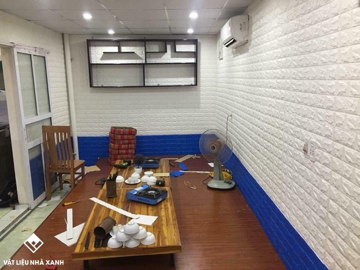 xốp dán tường văn phòng