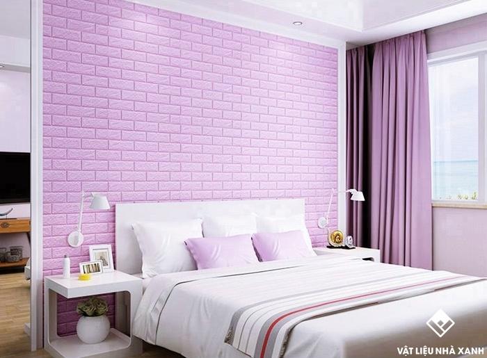 xốp phòng ngủ màu tím