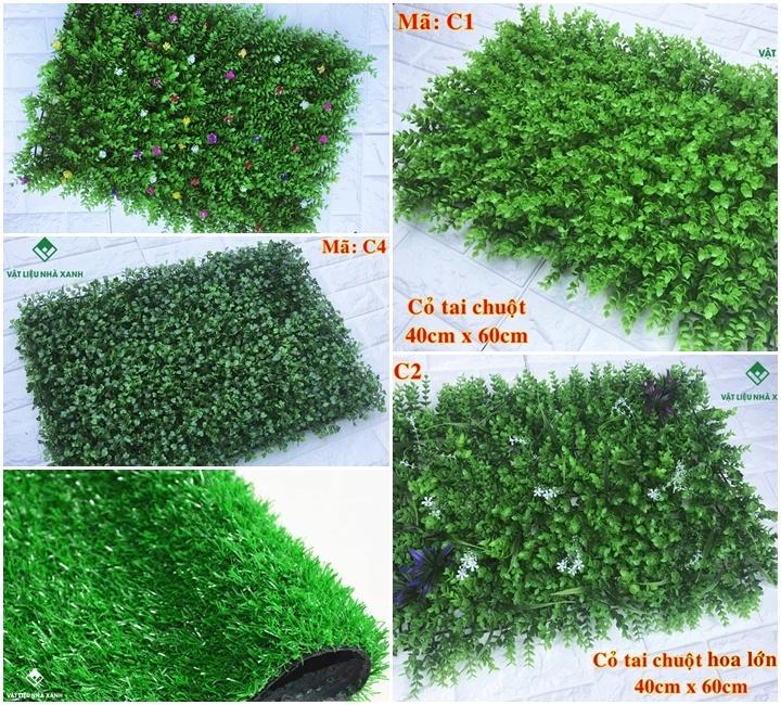 các mẫu cỏ dán tường