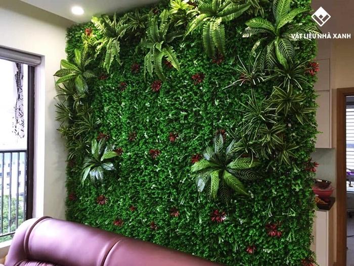 cỏ nhân tạo trang trí chung cư