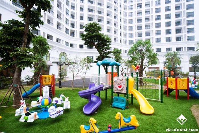 cỏ trang trí chung cư