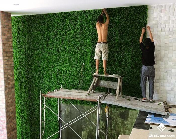 cỏ trang trí dán tường