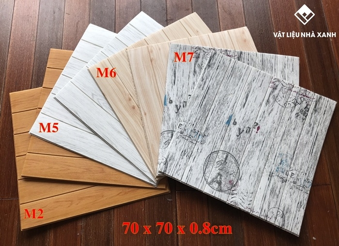 đơn giá xốp dán tường giả gỗ