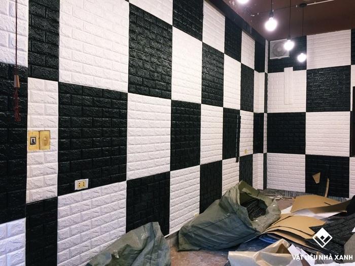 mẫu xốp dán tường đẹp giả gạch
