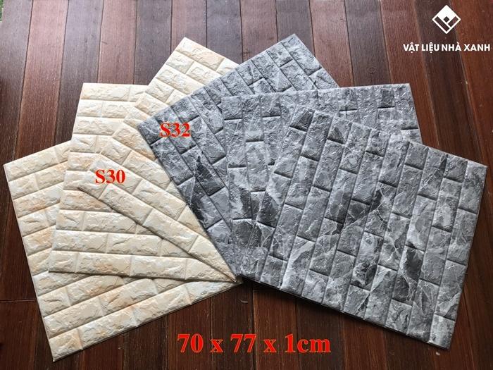 mẫu xốp dán tường giả vân đá