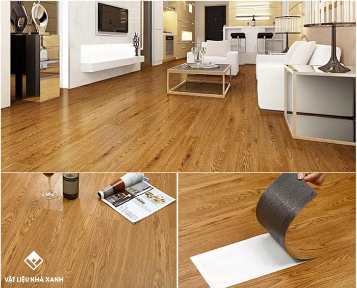 sàn nhựa vân gỗ tự dính