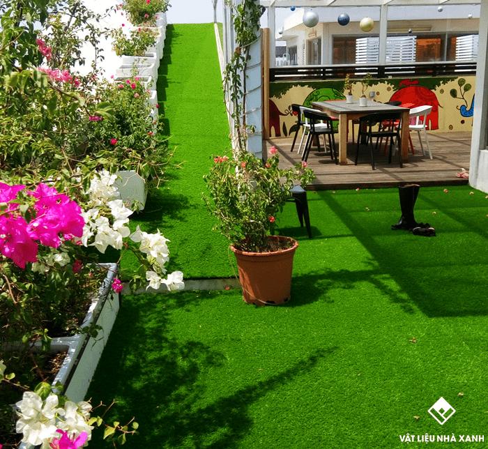 thảm cỏ trang trí chung cư