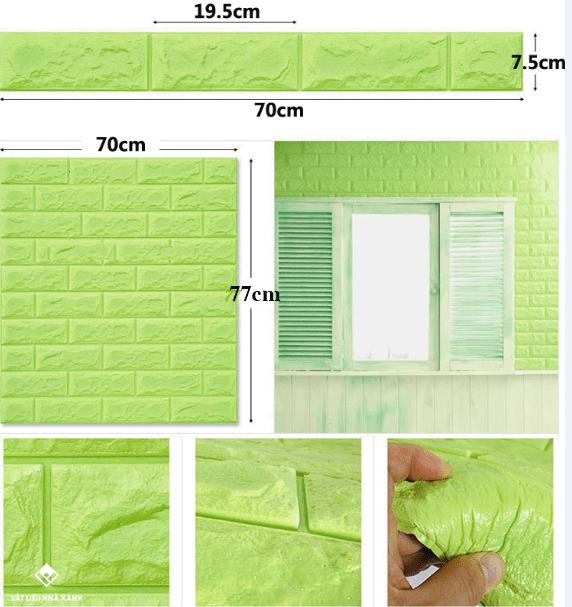 miếng dán tường gạch