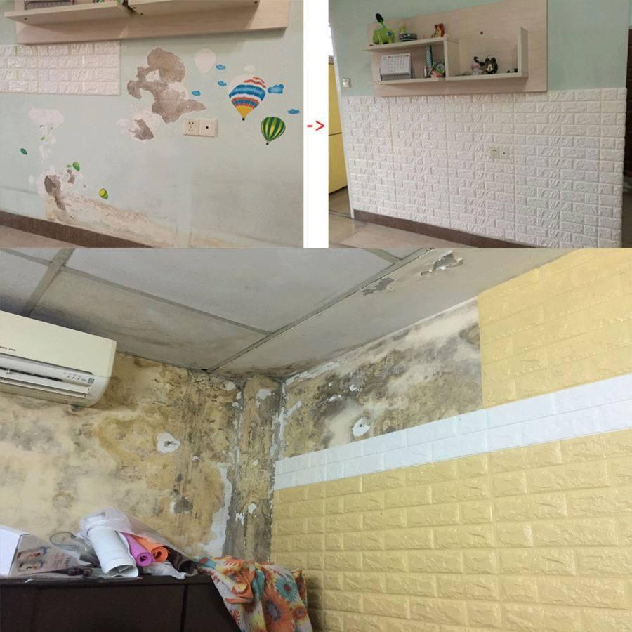 thi công xốp dán tường chống thấm