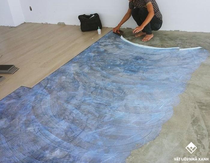 sàn nhựa giả gỗ dán keo