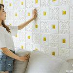 Các kiểu xốp dán tường đẹp nhất – Công trình xốp dán tường giả da BF nhũ tuyến