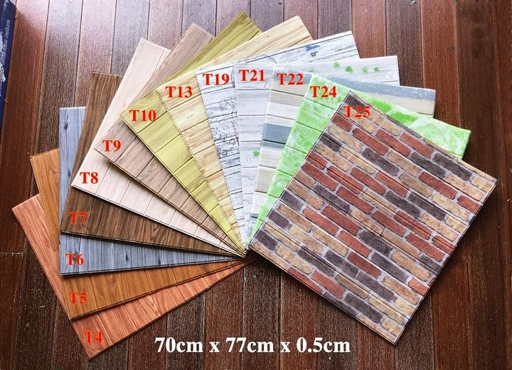 giá xốp dán tường 3d giả gỗ
