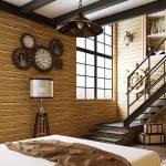 Các mẫu xốp dán tường 3d giả gỗ đẹp nhất – Công trình thi công thực tế