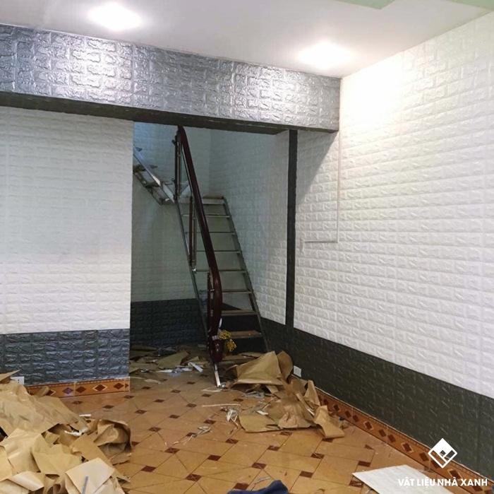 nhận thi công xốp dán tường