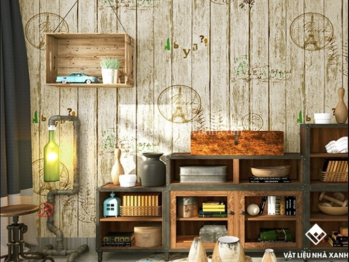 xốp dán tường vintage