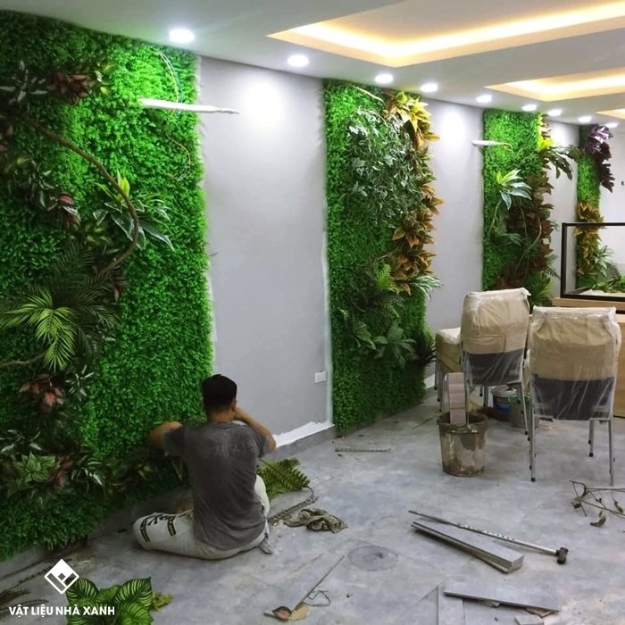 cỏ nhựa trang trí văn phòng