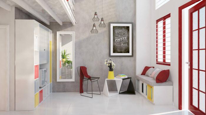 cách tân trang nội thất giá rẻ khi thuê nhà cũ