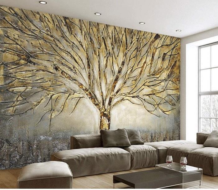 Trang trí hình vẽ cho không gian phòng khách