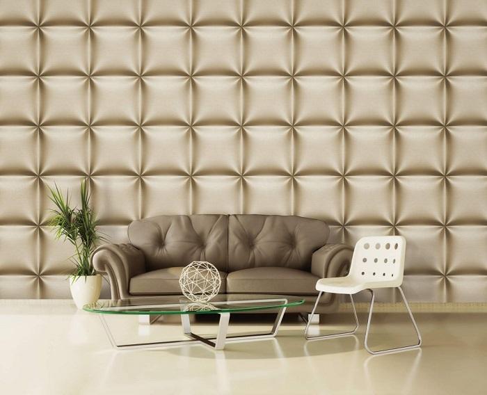 Trang trí phòng khách với xốp dán tường